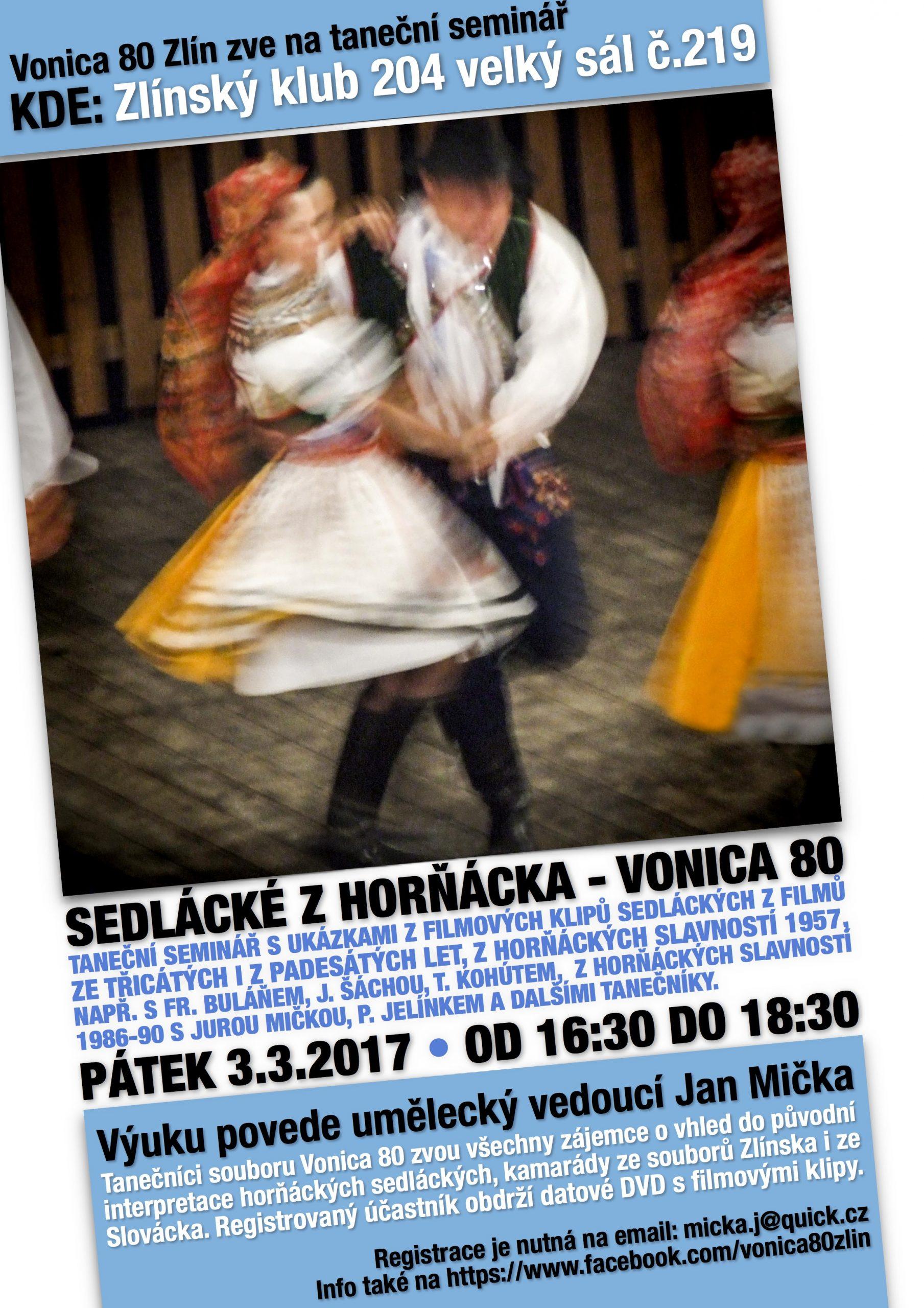 Taneční seminář Sedlácké z Horňácka