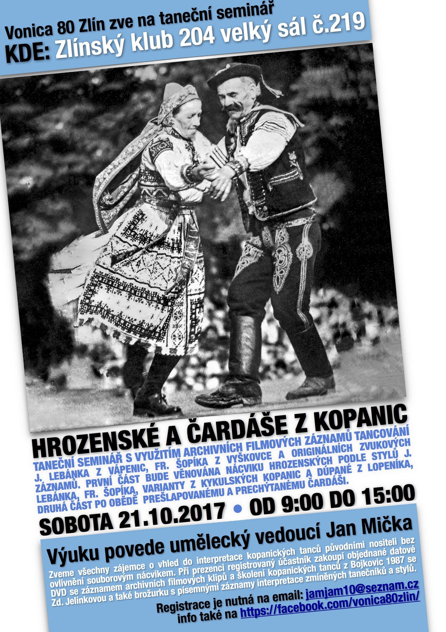 Taneční seminář Hrozenské a Čardáše z Kopanic