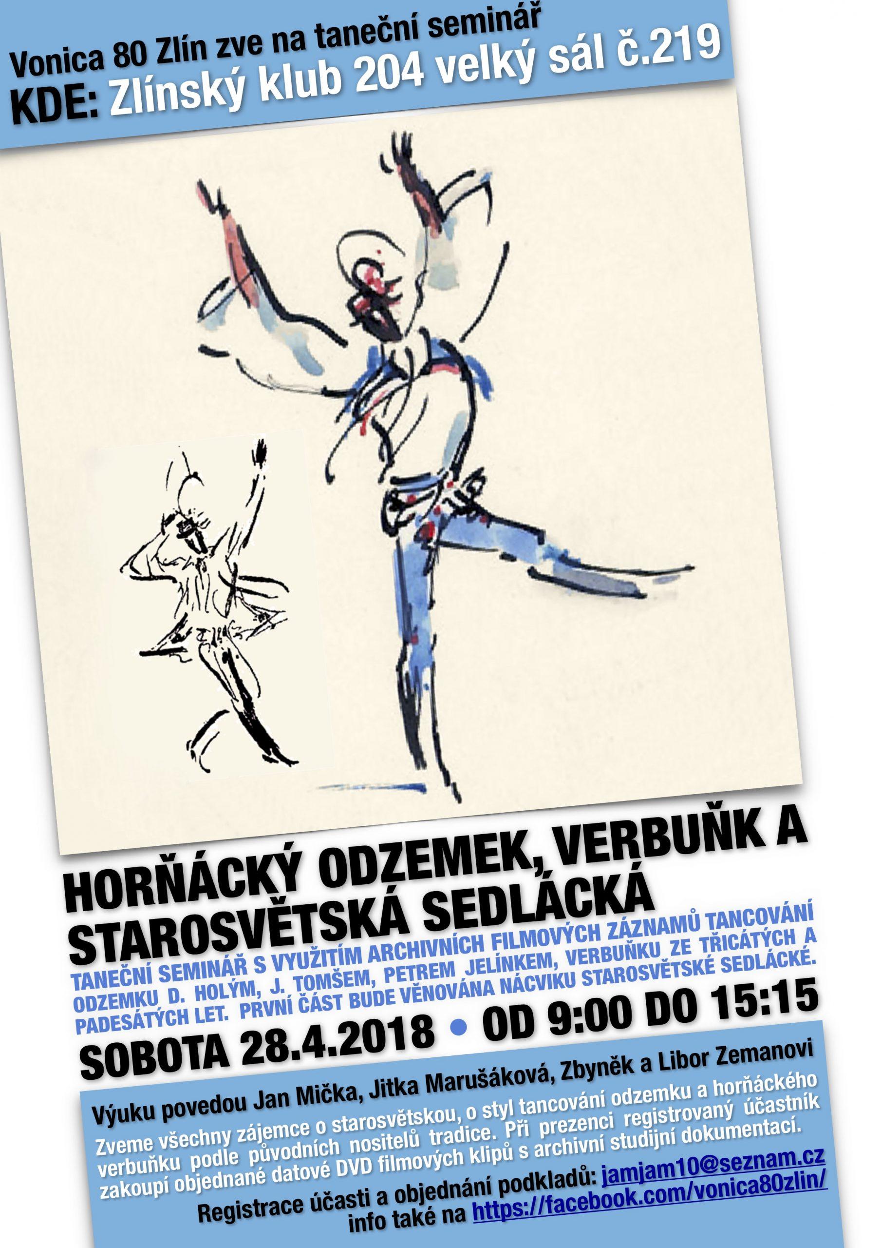 Taneční seminář Horňáckých verbuňků, odzemku a starosvětské